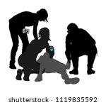 doctor rescue first aid vector... | Shutterstock .eps vector #1119835592