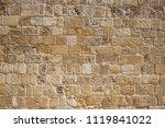 sandstone  limestone aged wall... | Shutterstock . vector #1119841022