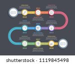 colorful timeline infographics... | Shutterstock .eps vector #1119845498
