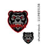 angry bear mascot | Shutterstock .eps vector #1119855158
