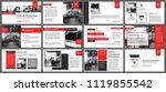red and white element for slide ... | Shutterstock .eps vector #1119855542