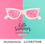 summer sale bright color... | Shutterstock .eps vector #1119857048