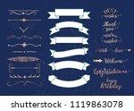 set of vector graphic elements... | Shutterstock .eps vector #1119863078