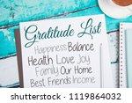 gratitude journal  gratitude... | Shutterstock . vector #1119864032