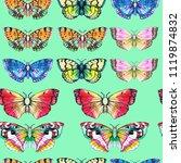 butterfly watercolor... | Shutterstock . vector #1119874832