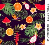 seamless pattern with exotic... | Shutterstock .eps vector #1119875618