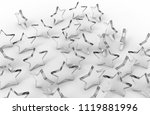 group of glass stars isolated... | Shutterstock . vector #1119881996