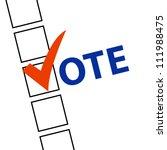 voting symbols vector | Shutterstock .eps vector #111988475