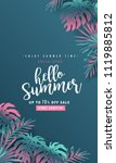 summer sale background layout... | Shutterstock .eps vector #1119885812