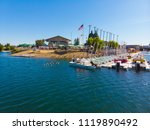 aerial view of an aquatic... | Shutterstock . vector #1119890492