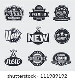 collection of retro vintage... | Shutterstock .eps vector #111989192
