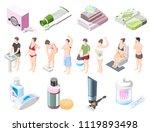 personal hygiene isometric... | Shutterstock .eps vector #1119893498