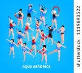 aqua aerobics isometric... | Shutterstock .eps vector #1119893522