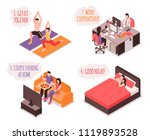 daily life of couple isometric... | Shutterstock .eps vector #1119893528