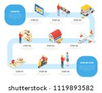 logistic service concept... | Shutterstock .eps vector #1119893582
