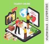 charity online isometric... | Shutterstock .eps vector #1119893585