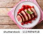 tasty honey duck breast with... | Shutterstock . vector #1119896918