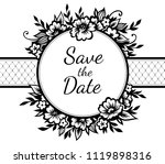 romantic frame with stylized ... | Shutterstock .eps vector #1119898316