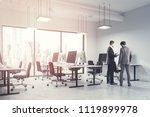 business people talking in a...   Shutterstock . vector #1119899978