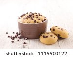 raw dough cookie | Shutterstock . vector #1119900122