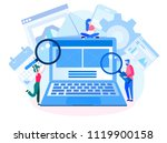 concept application testing ... | Shutterstock .eps vector #1119900158
