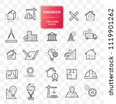 set of engineering icons. line... | Shutterstock .eps vector #1119901262