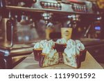 coffee and cakes | Shutterstock . vector #1119901592