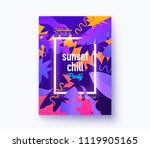 hello summer holiday and summer ...   Shutterstock .eps vector #1119905165