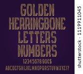 golden herringbone letters ... | Shutterstock .eps vector #1119911045