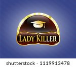 gold emblem or badge with... | Shutterstock .eps vector #1119913478