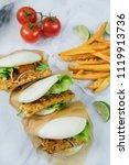 delicious homemade meals  ...   Shutterstock . vector #1119913736