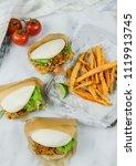 delicious homemade meals  ... | Shutterstock . vector #1119913745