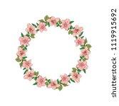 round rose frame for greeting... | Shutterstock .eps vector #1119915692