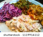 healthy organic food  salad ... | Shutterstock . vector #1119916112