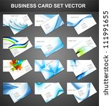 abstract various 12 business... | Shutterstock .eps vector #111991655