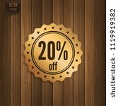 sale 20  off. discount badge ... | Shutterstock .eps vector #1119919382