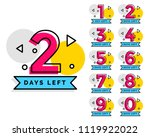 number of days left badge for... | Shutterstock .eps vector #1119922022