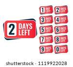 number of days left sticker...   Shutterstock .eps vector #1119922028