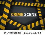 crime ribbon template. caution  ...   Shutterstock .eps vector #1119923765