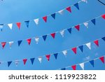 flag of france it is a tricolor ... | Shutterstock . vector #1119923822