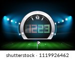 digital scoreboard with stadium ... | Shutterstock .eps vector #1119926462