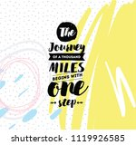 the journey of a thousand miles ... | Shutterstock .eps vector #1119926585