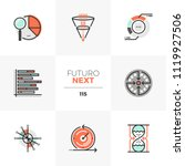 modern flat icons set of visual ... | Shutterstock .eps vector #1119927506