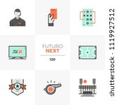 modern flat icons set of... | Shutterstock .eps vector #1119927512