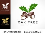 oak tree logo. acorn  vector. | Shutterstock .eps vector #1119932528