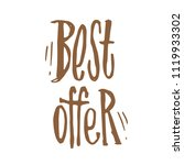 handdrawn lettering of a... | Shutterstock .eps vector #1119933302