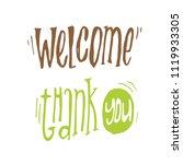 handdrawn lettering of a... | Shutterstock .eps vector #1119933305