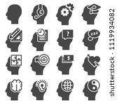icons set of human mind process ... | Shutterstock .eps vector #1119934082