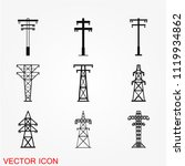electric tower icon vector | Shutterstock .eps vector #1119934862