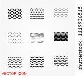 sea icons  vector symbol   Shutterstock .eps vector #1119936515